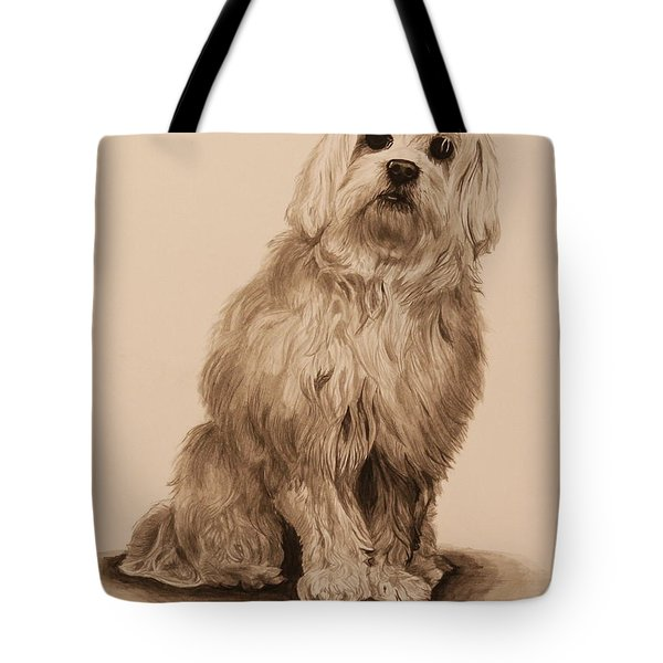 Ink Dog Tote Bag by Michelle Miron-Rebbe