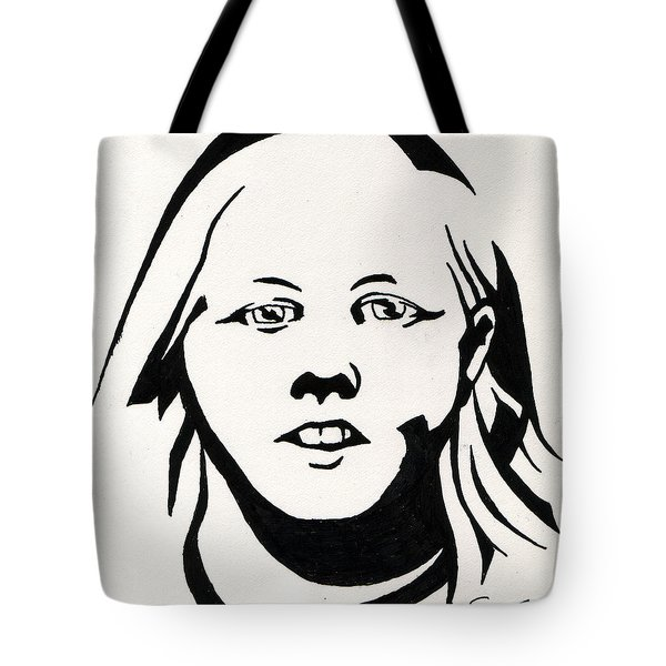 Ink Portrait Tote Bag