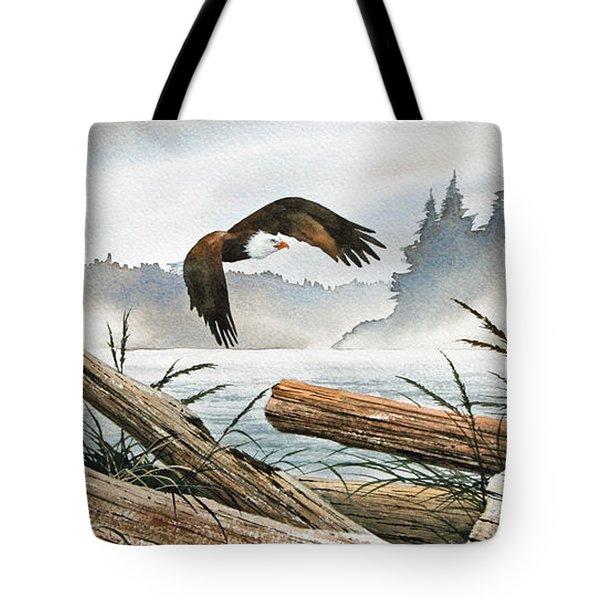 Inland Sea Eagle Tote Bag by James Williamson