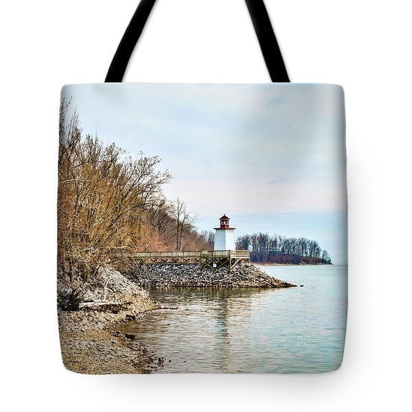 Tote Bag featuring the photograph Inlet Lighthouse 2 by Greg Jackson