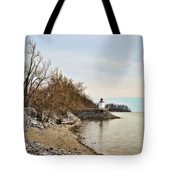 Tote Bag featuring the photograph Inlet Lighthouse 4 by Greg Jackson