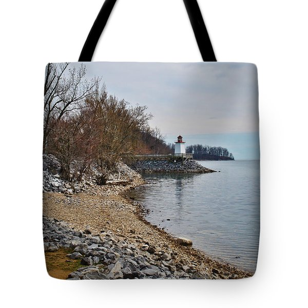 Inlet Lighthouse Tote Bag by Greg Jackson