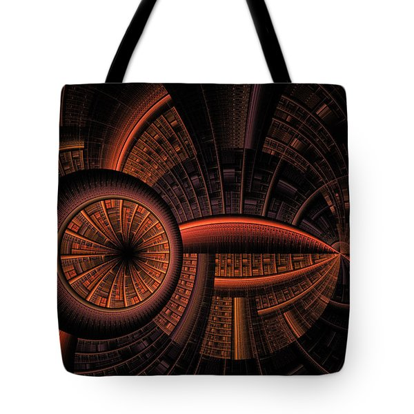 Tote Bag featuring the digital art Inner Core by GJ Blackman