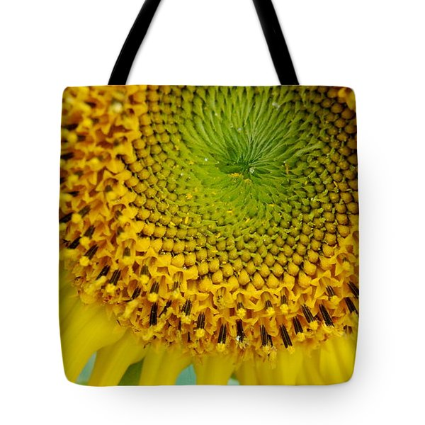 Inner Peace Forms Within This Sweet Yellow Sunflower Tote Bag by Eunice Miller