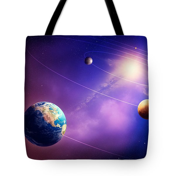 Inner Solar System Planets Tote Bag