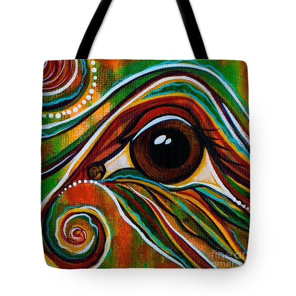 Inner Strength Spirit Eye Tote Bag by Deborha Kerr