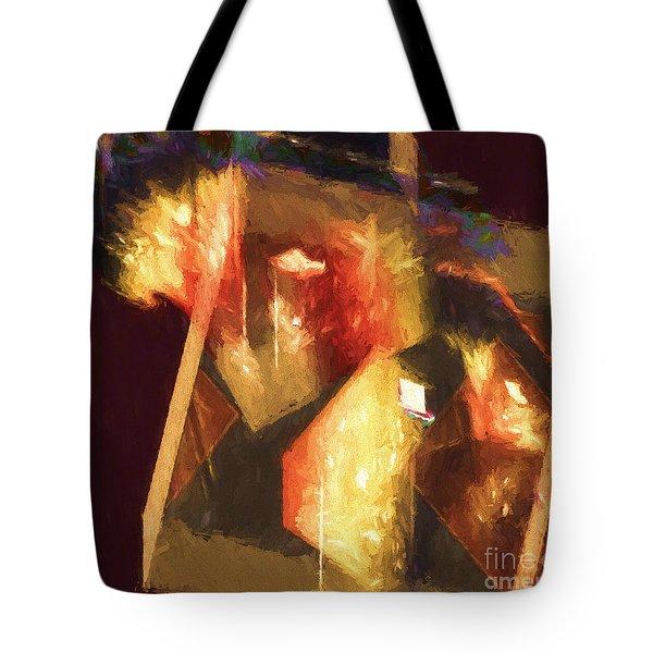 Inner Turmoil Digital Oil Painting Tote Bag