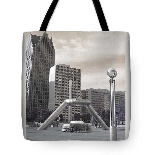 Inner Void Of Hard Plaza Phase 2 Tote Bag