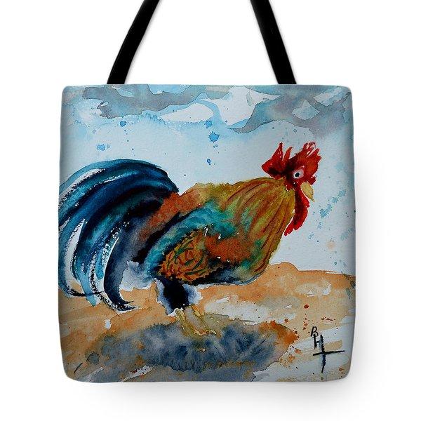 Innocent Rooster Tote Bag by Beverley Harper Tinsley