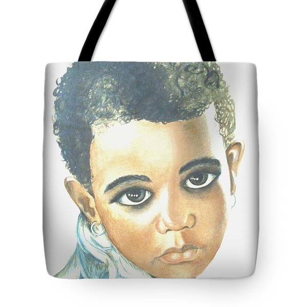 Tote Bag featuring the painting Innocent Sorrow by Sophia Schmierer