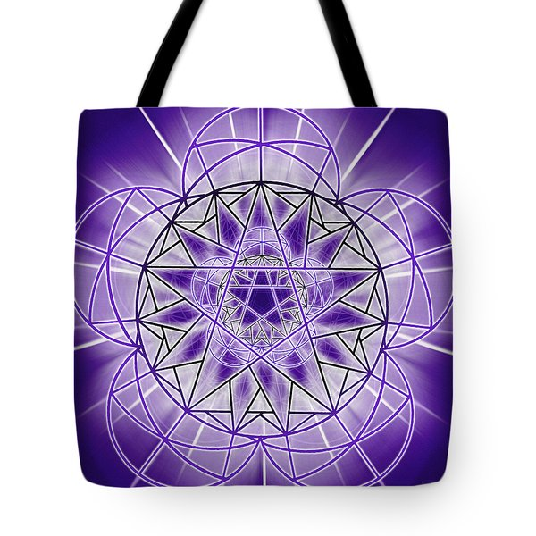 Tote Bag featuring the drawing In'phi'nity Star-map by Derek Gedney