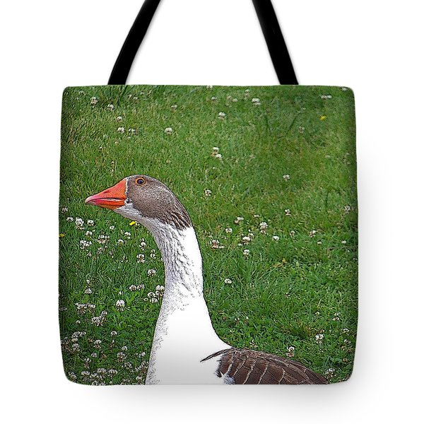 Inquisitive Goose Tote Bag