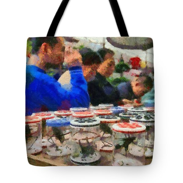 Insect Market In Shanghai Tote Bag by George Atsametakis