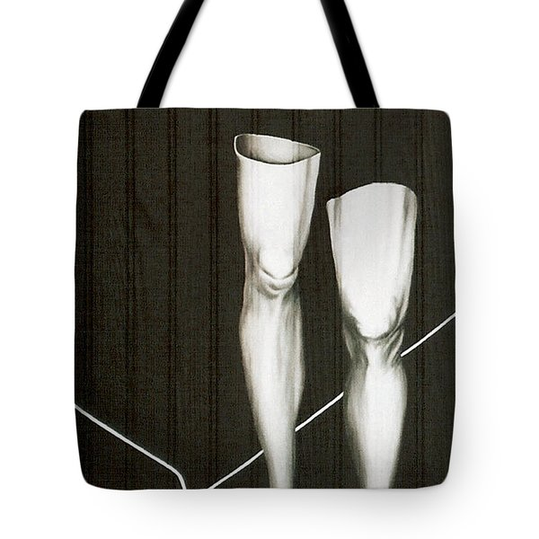 Tote Bag featuring the painting Insecurity by Fei A