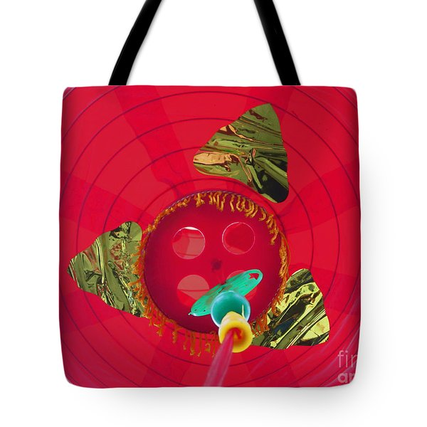 Inside A Red Chinese Lantern Tote Bag by Kym Backland