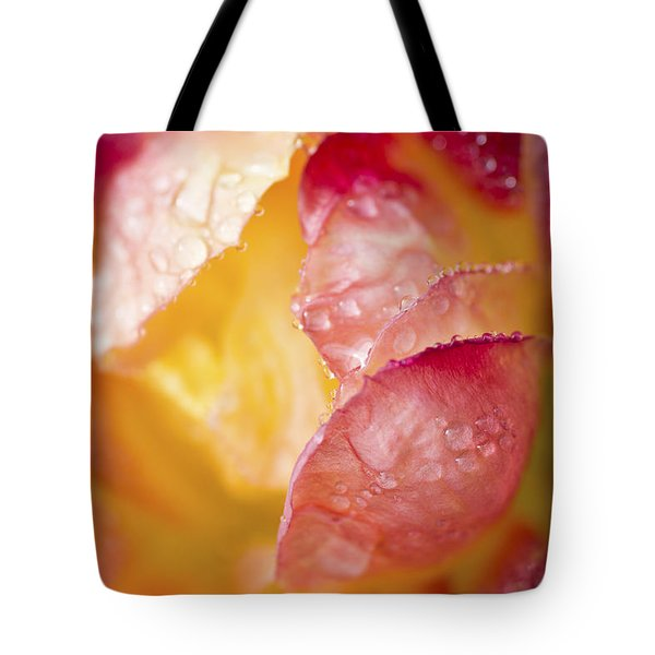 Tote Bag featuring the photograph Inside A Rose by Priya Ghose