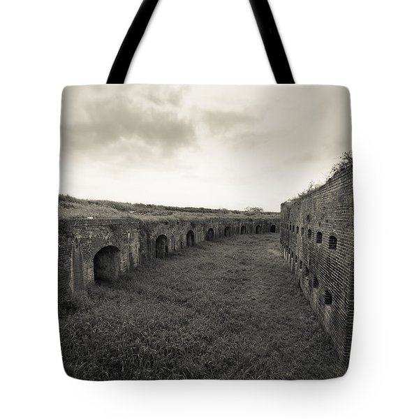 Inside Fort Macomb Tote Bag by David Morefield