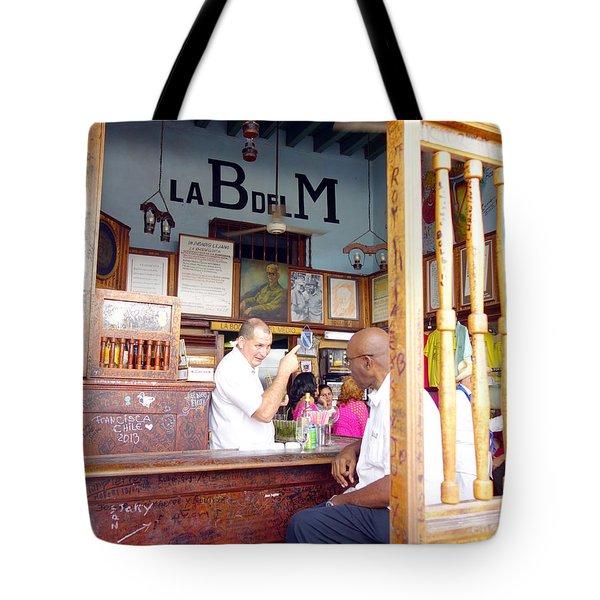 Inside La Bodeguita Del Medio Tote Bag