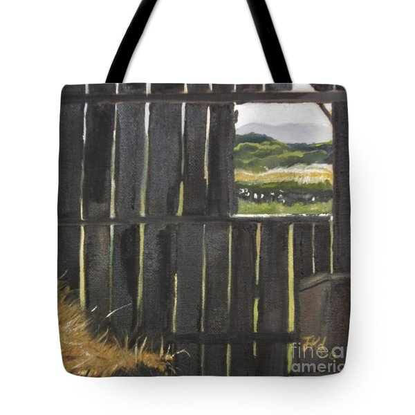 Barn -inside Looking Out - Summer Tote Bag by Jan Dappen