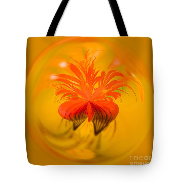 Inside Out Nasturtium Tote Bag by Anne Gilbert