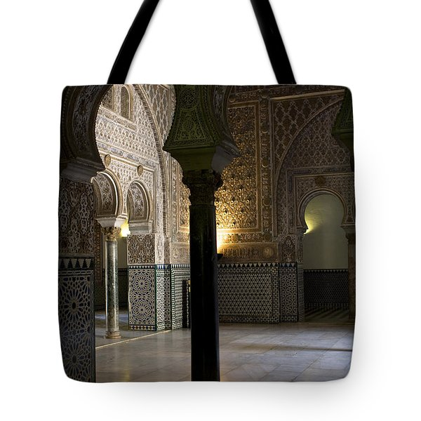 Inside The Alcazar Of Seville Tote Bag