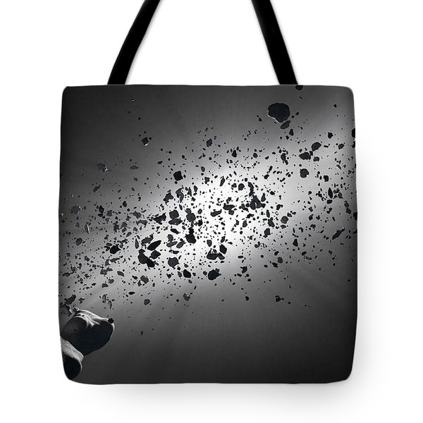 Inside The Asteroid Belt Against The Sun Tote Bag