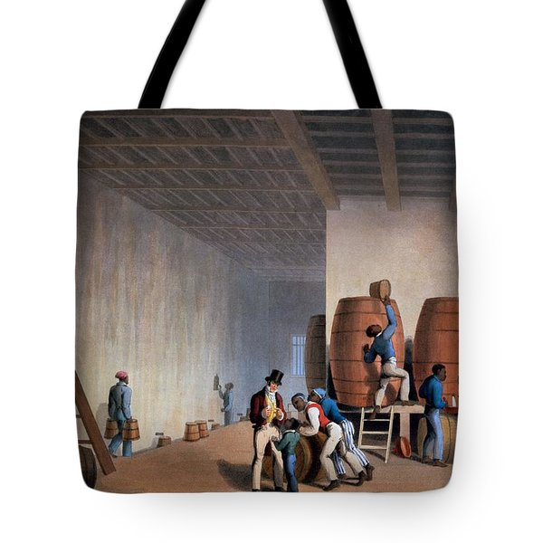 Inside The Distillery, From Ten Views Tote Bag by William Clark