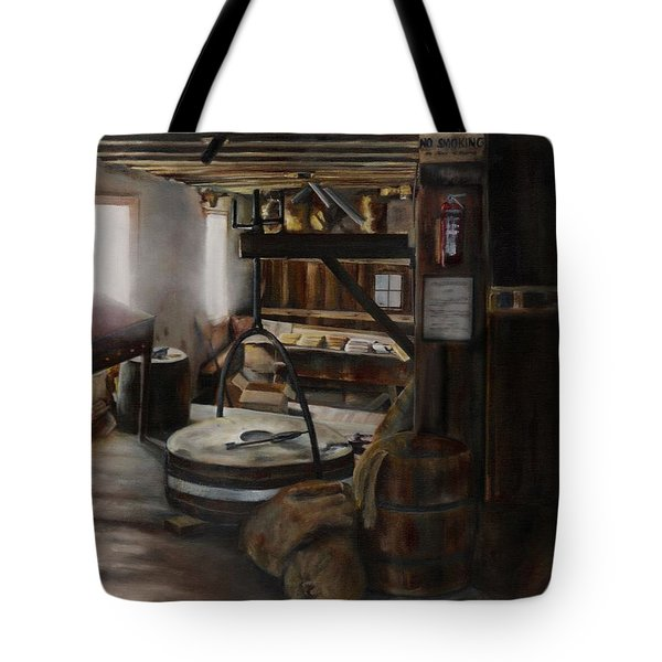 Inside The Flour Mill Tote Bag by Lori Brackett