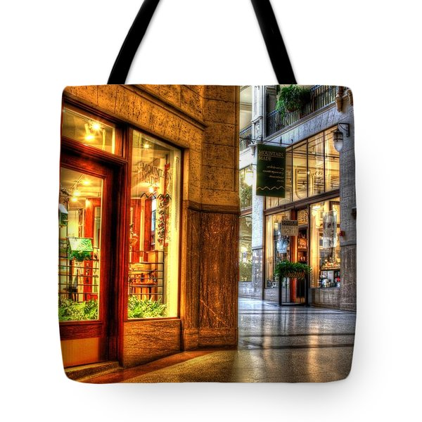 Inside The Grove Arcade Tote Bag