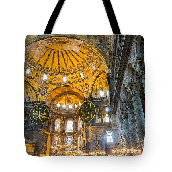 Inside The Hagia Sophia Istanbul Tote Bag