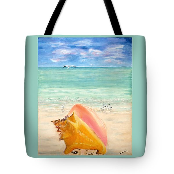 Inside The Head Of A Conch Woman Tote Bag