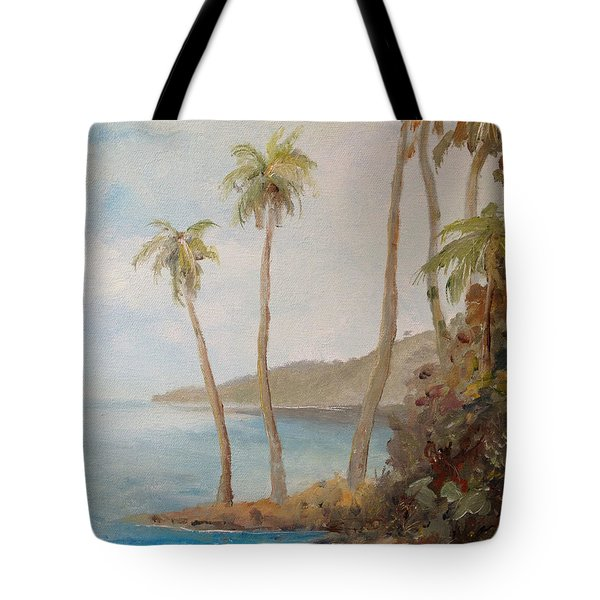 Tote Bag featuring the painting Inside The Reef by Alan Lakin