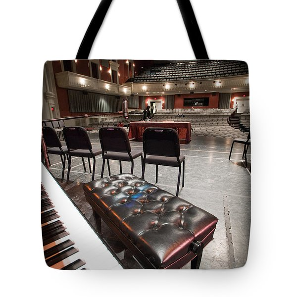 Tote Bag featuring the photograph Inside Theater by Alex Grichenko