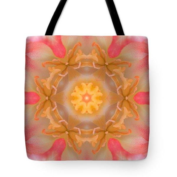 Inside Tulip Mandala Tote Bag