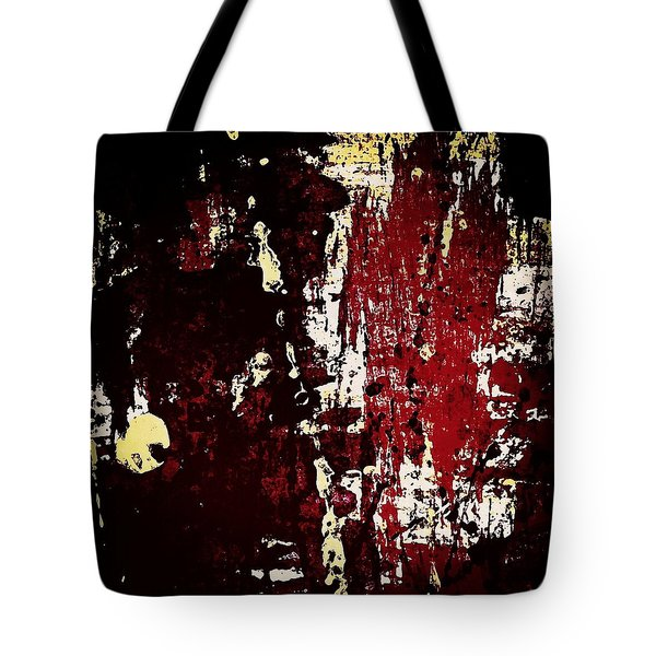Abstract In Burgundy Tote Bag