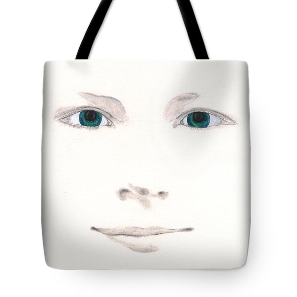 Tote Bag featuring the drawing Inspiration by Stephanie Grant