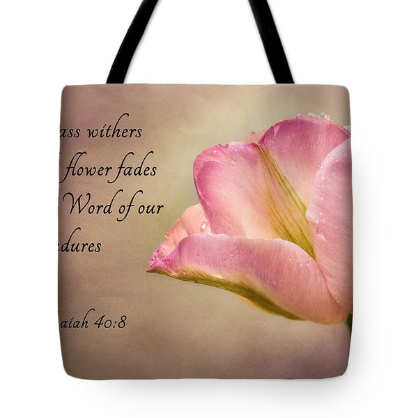 Inspirational Tulip Tote Bag