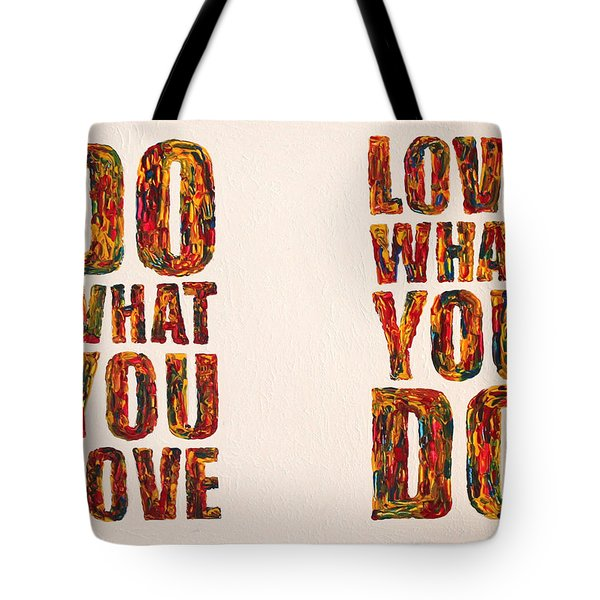 Inspiring Palette Knife Acrylic Tote Bag