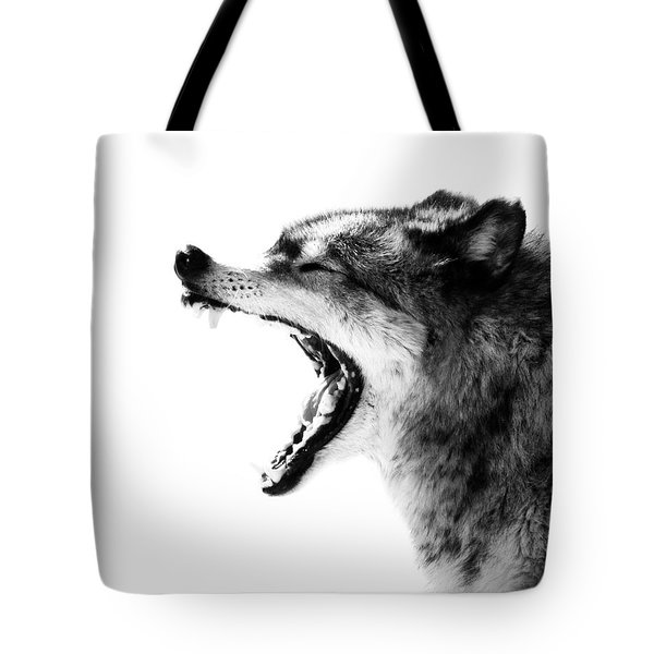 Intense Gray Wolf Portrait  Tote Bag