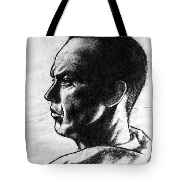 Tote Bag featuring the painting Michael Keaton by Salman Ravish