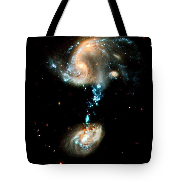 Interacting Galaxies Group Arp 194 Tote Bag by Amanda Struz