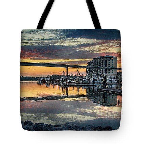 Intercoastal Waterway And The Wharf Tote Bag