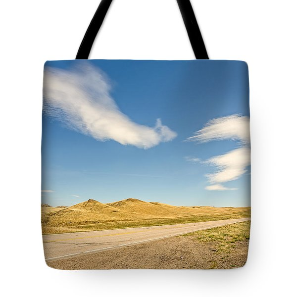 Interesting Clouds In Big Sky Country Tote Bag
