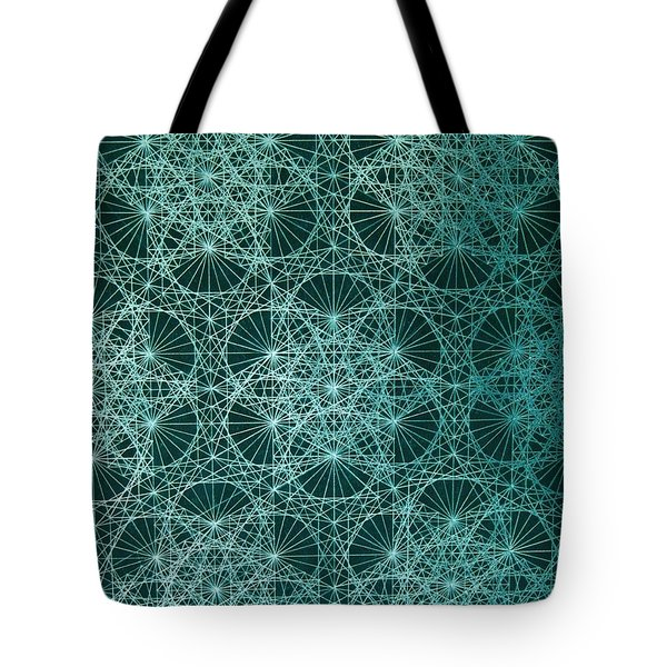 Tote Bag featuring the drawing Interference by Jason Padgett