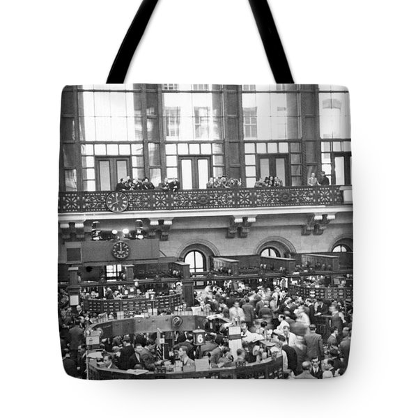 Interior Of Ny Stock Exchange Tote Bag