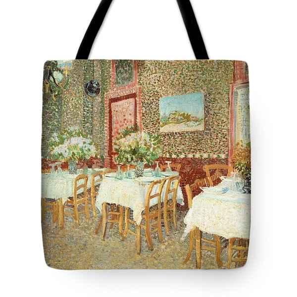 Interior Of Restaurant Tote Bag by Vincent van Gogh