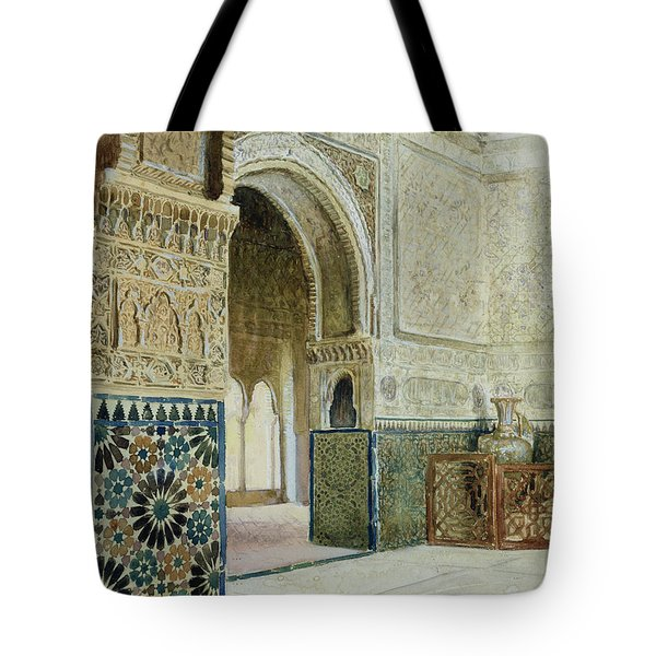 Interior Of The Alhambra  Tote Bag