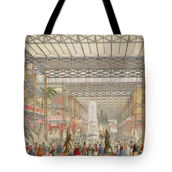 Interior Of The Crystal Palace, Pub Tote Bag by Augustus Butler