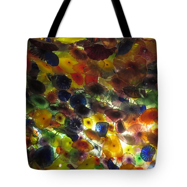 Tote Bag featuring the photograph Interior Roof Decorations Casino Hotel Resorts Las Vegas by Navin Joshi