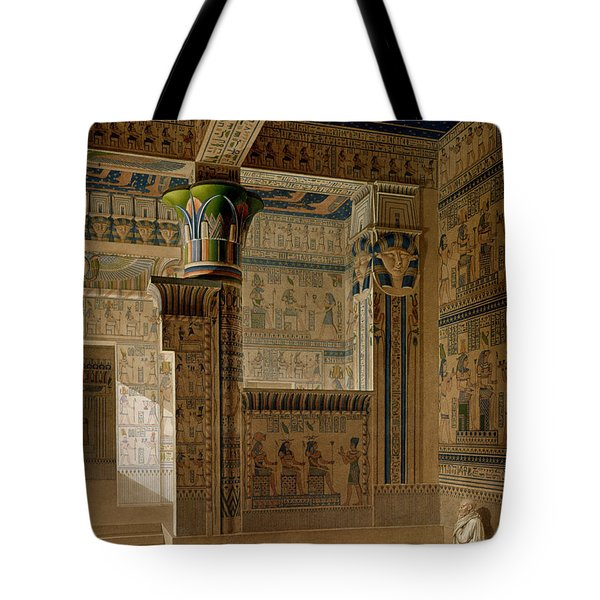 Interior View Of The West Temple Tote Bag by Le Pere
